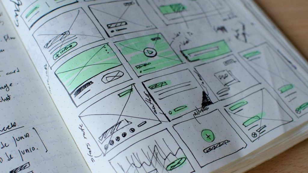 website design wireframes mejo bangalore