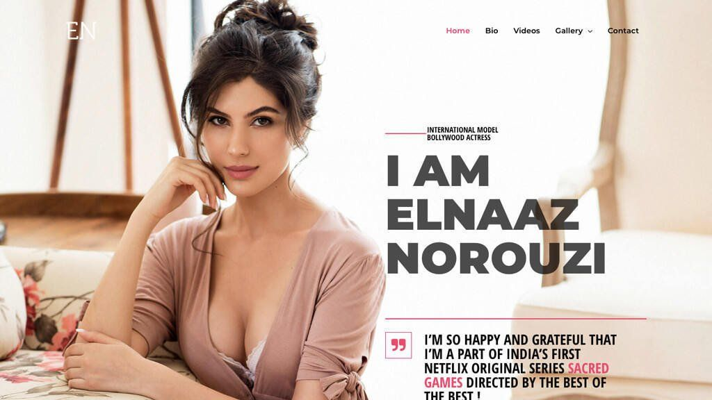 Elnaaz Norouzi Website Design