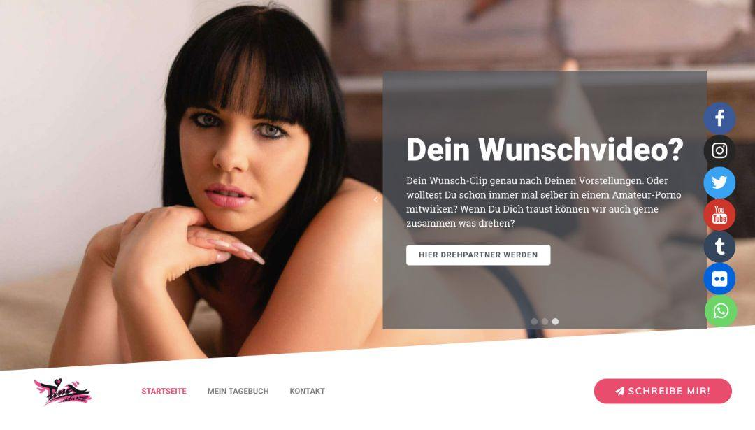 website design and development for cam girl homepage design