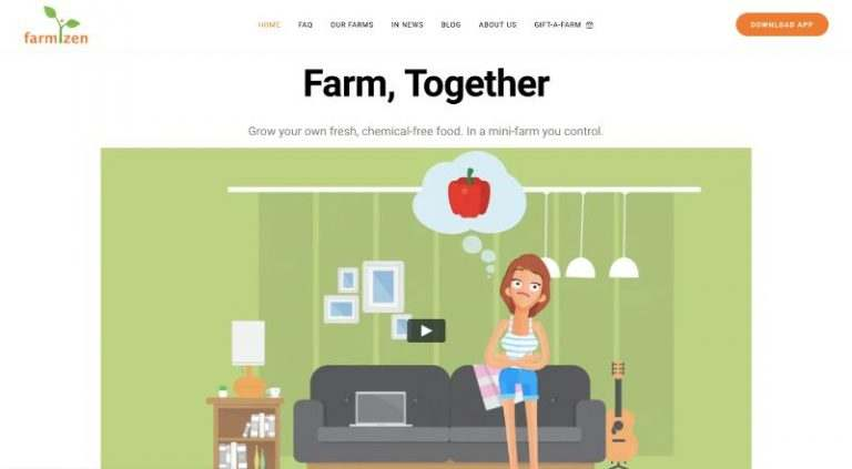 Farmizen Website Homepage