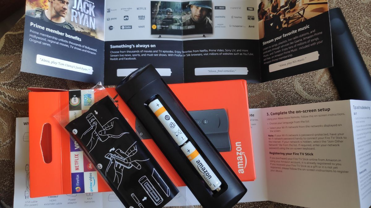 Information Design on Packaging Fire tv stick amazon