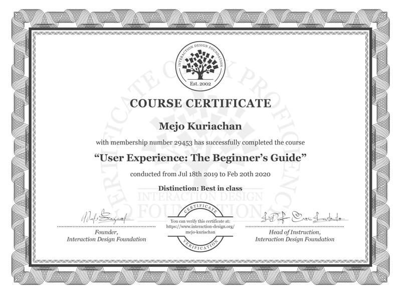 User Experience The Beginner's Guide with a Best in Class Distinction