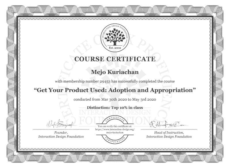 Get Your Product Used Adoption and Appropriation