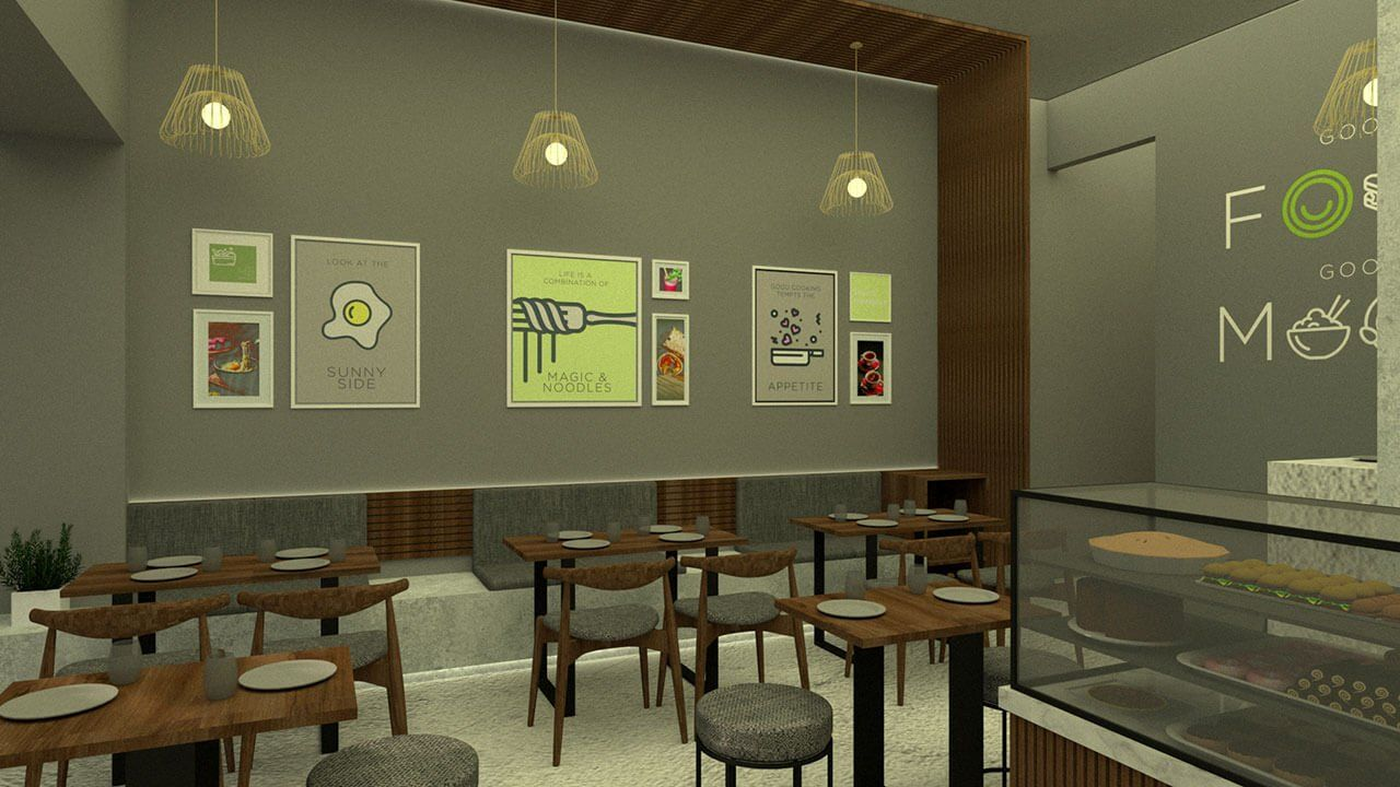 coffee shop branding tapas eatery wall design space design