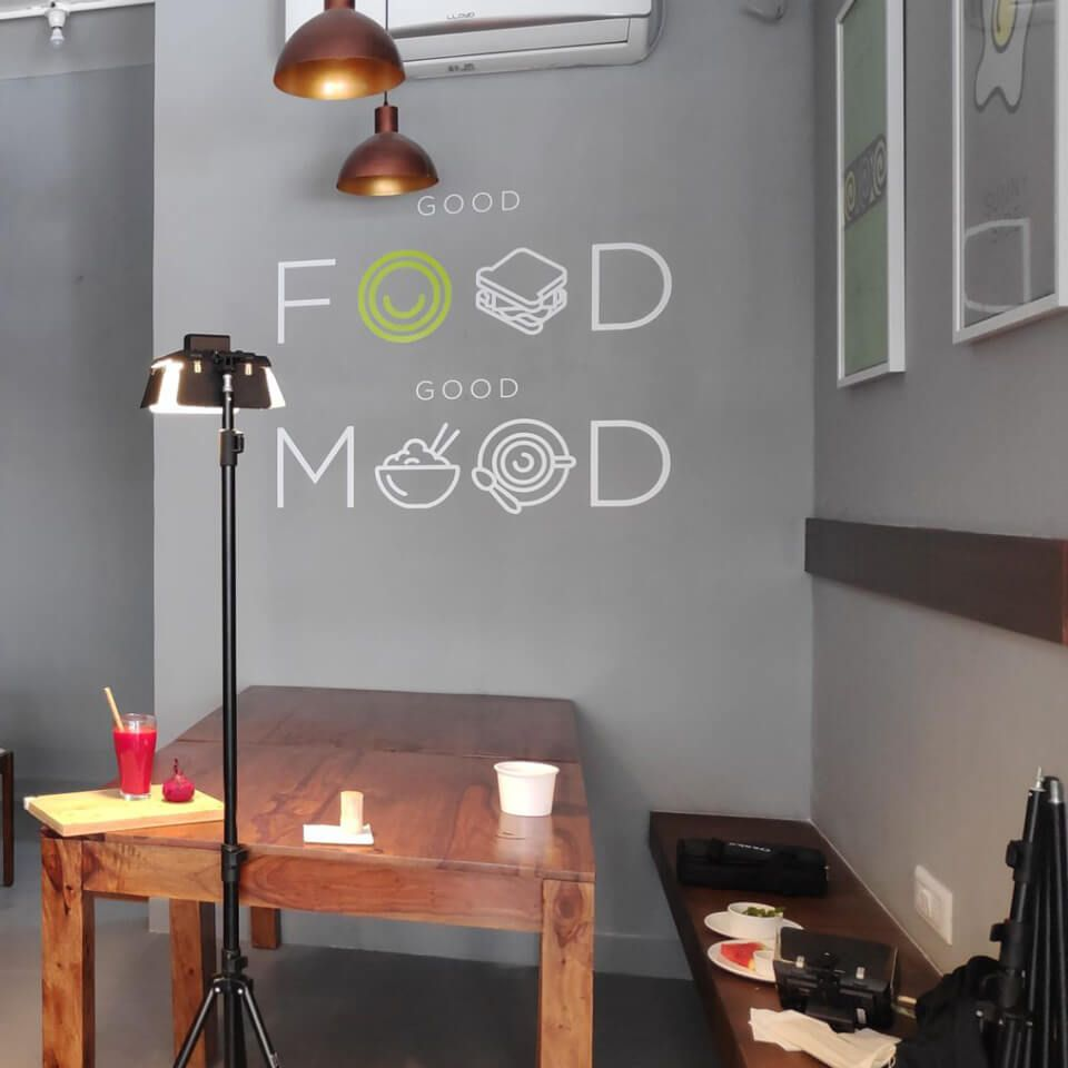 Good Food Good Mood Wall Graphics