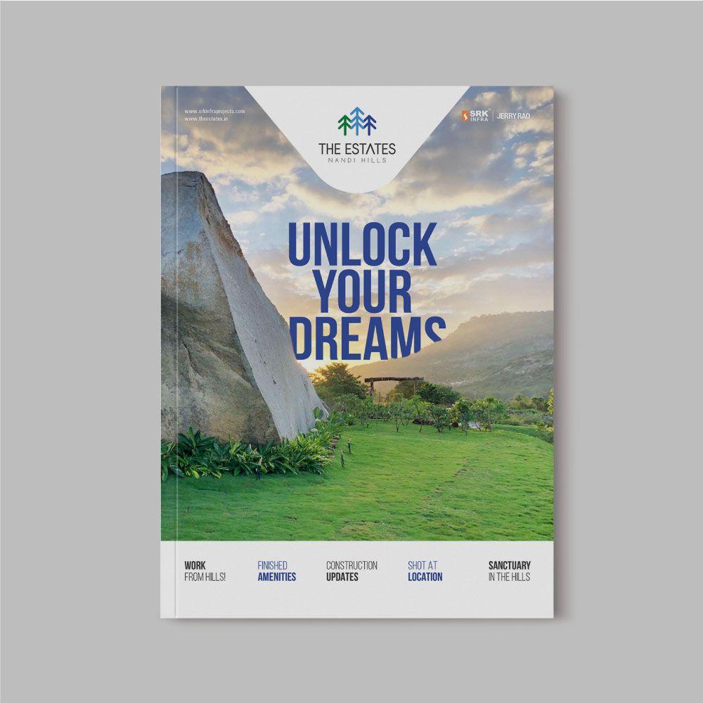 Brochure Cover Design The Estates Bangalore