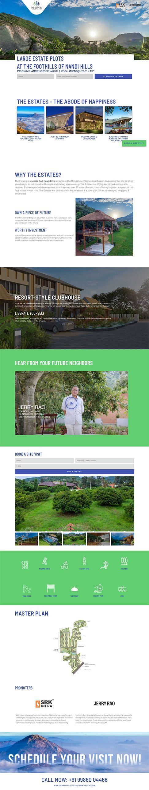 Website Design Real Estate Brand Bangalore