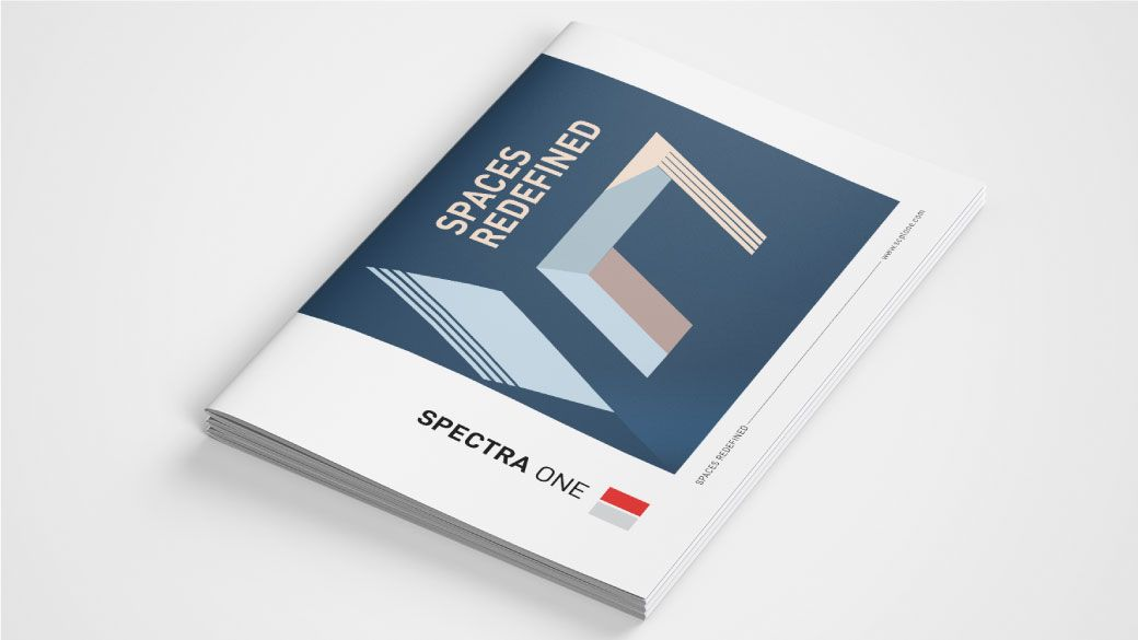 Brochure Cover Design Spectra One Bangalore